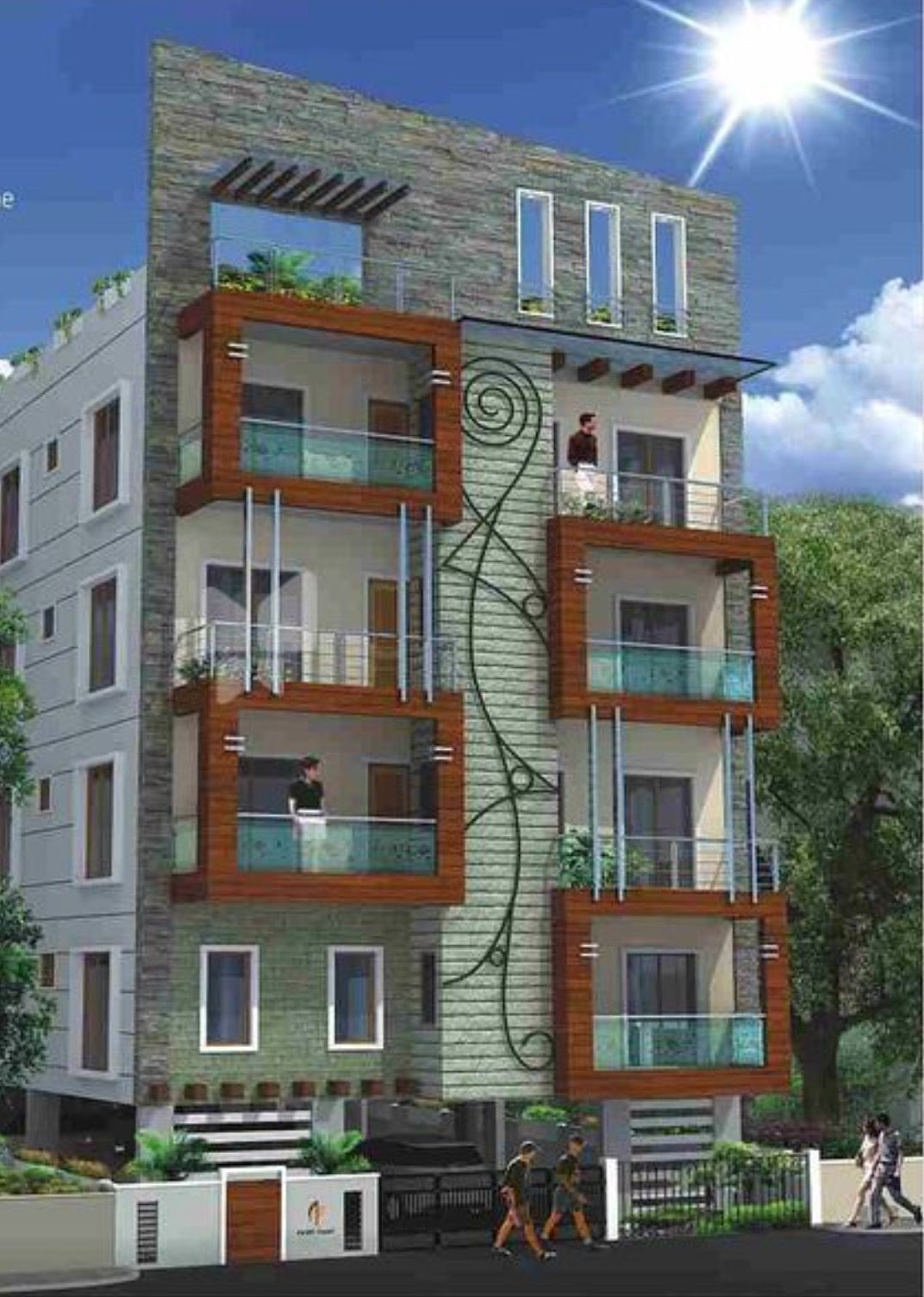 Apartments Front Elevation Designs