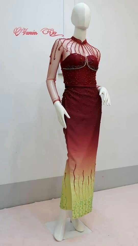 Pin by Chan lass on Myanmar dress | Dresses, Fashion, Bodycon dress