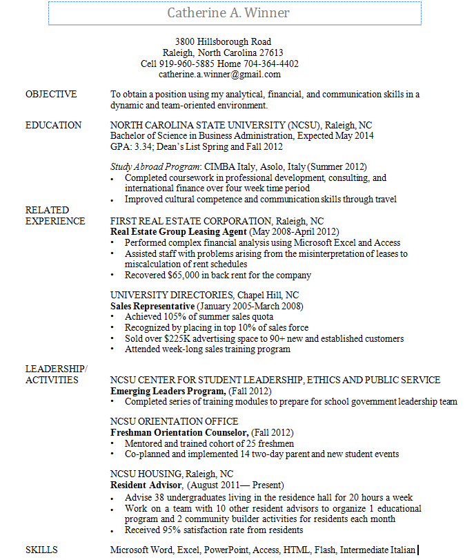 Here is a sample resume to help you get started. For more ...