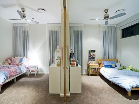 Sliding Door To Split A Room X Kids Rooms Shared Bedroom Divider Kids Room Divider