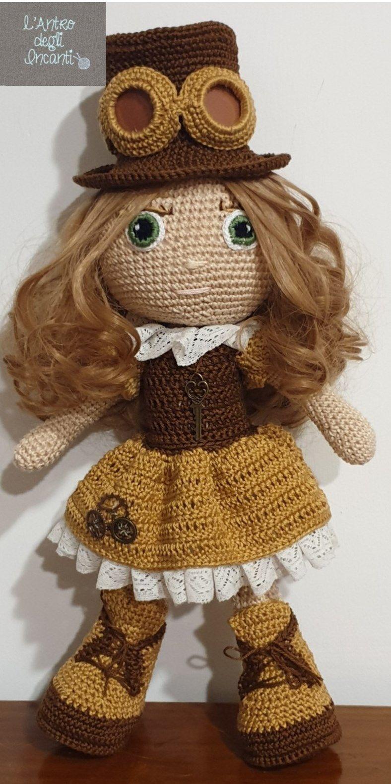 Bambola amigurumi steampunk Emmeline crochet uncinetto | Etsy | Crochet  hats, Crochet, Steampunk
