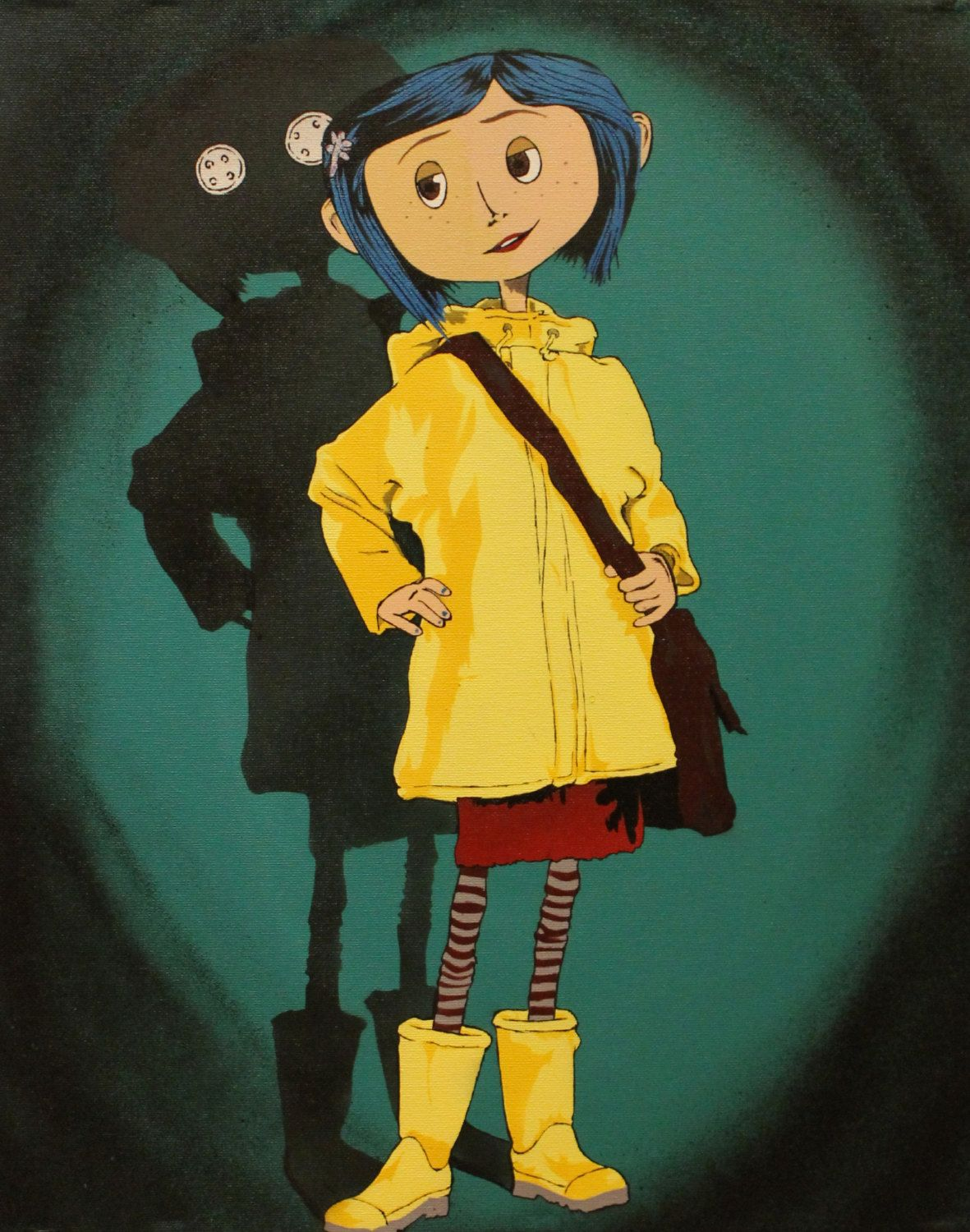 Coraline Print Coraline Art Coraline Jones Coraline Drawing