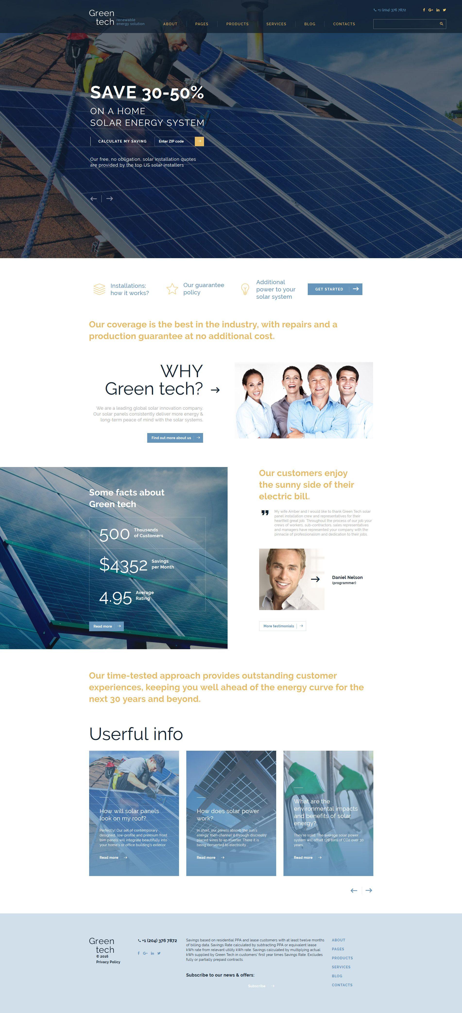 Green Tech Website Template | Pinterest | Template and Website
