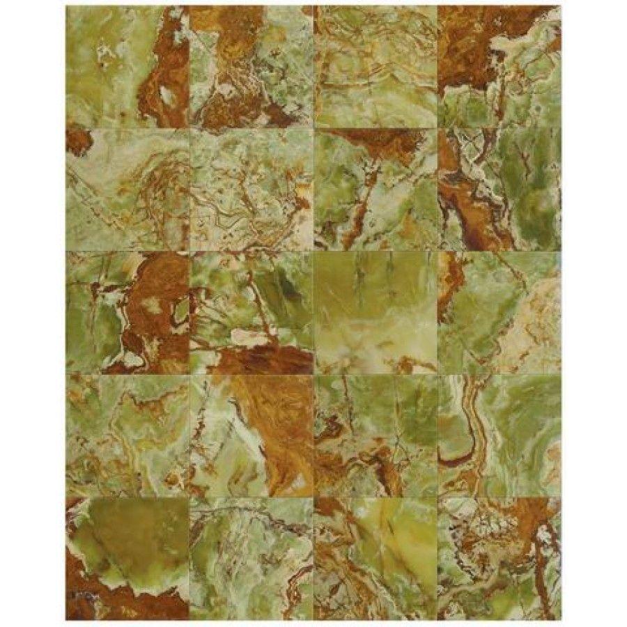 Green Onyx Marble Tile 12x12 Polished