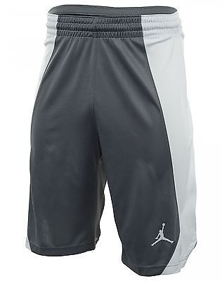 Nike Jordan Jumpman Game Mens 688535-065 Cool Grey Basketball Shorts Size 2XL