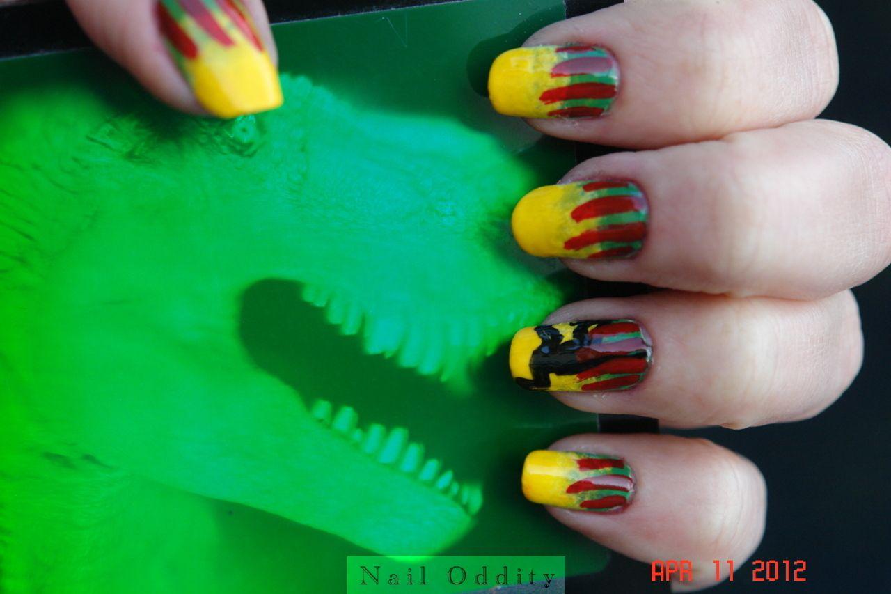 Jurassic Park Nails by Nail Oddity | Nails | Pinterest | Ring finger