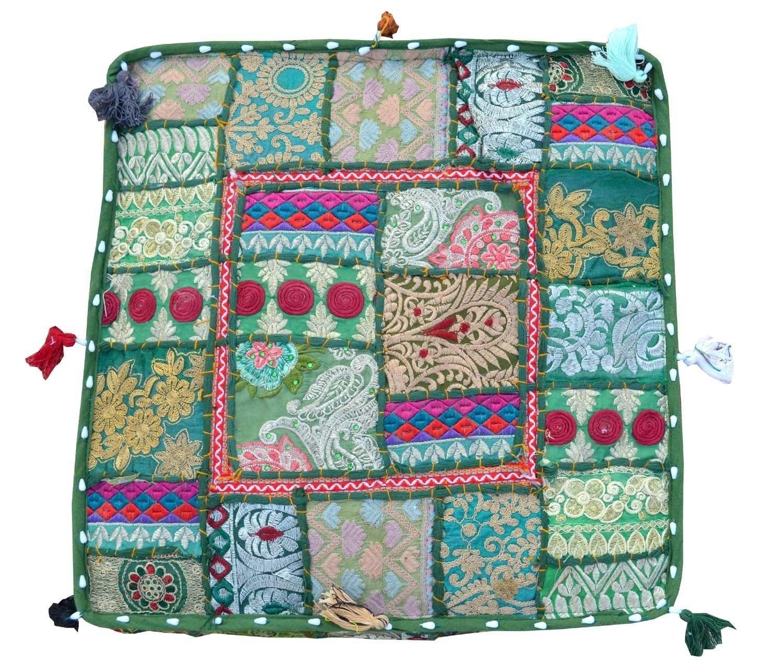 Bohemian Floor Cushions Decorative Cushion Cover Sari Etsy Decorative Cushions Indian Cushions Large Floor Pillows