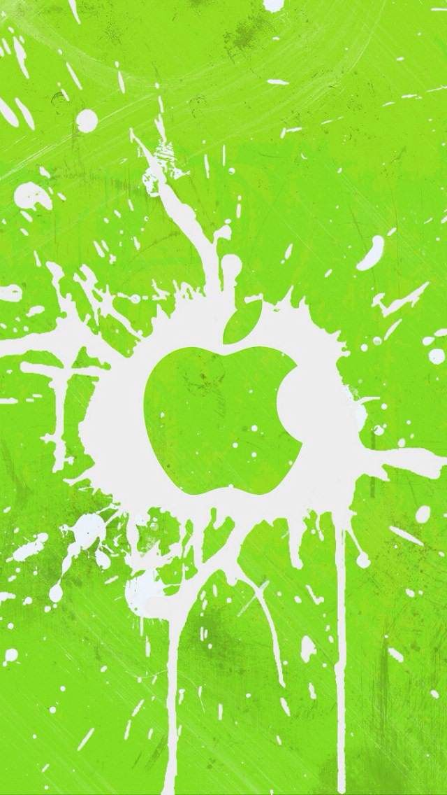Apple Iphone Wallpaper Splatter Lime Green Apple Wallpaper Iphone Best Iphone Wallpapers Iphone 5c Wallpaper