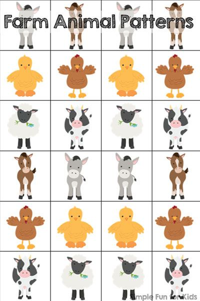 farm animal patterns printable cool ideas for kids farm animals farm animals preschool. Black Bedroom Furniture Sets. Home Design Ideas