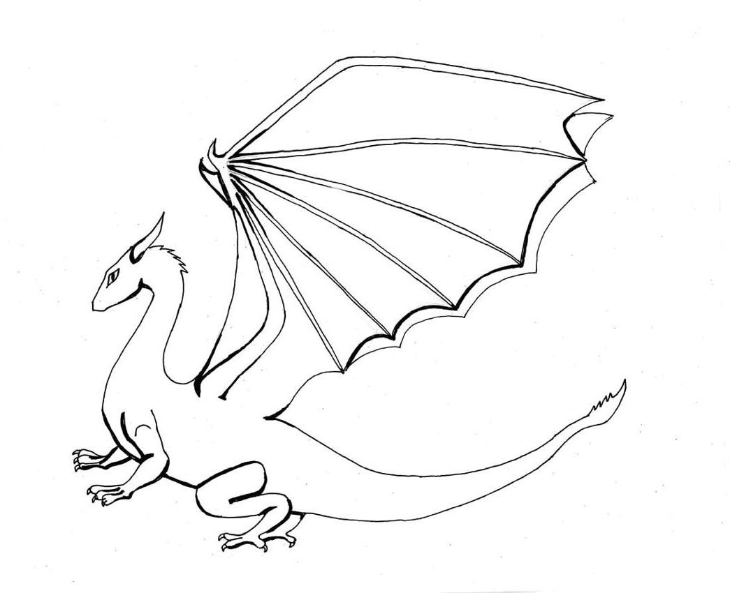 Dragon Coloring Pages Realistic Dragon Coloring Page Coloring