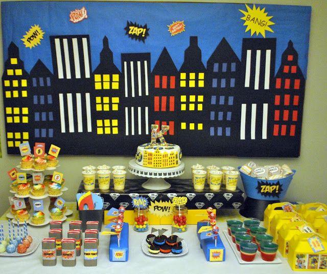 Karo's Fun Land: Super Kenneth 5th Birthday! | Superhero party ...