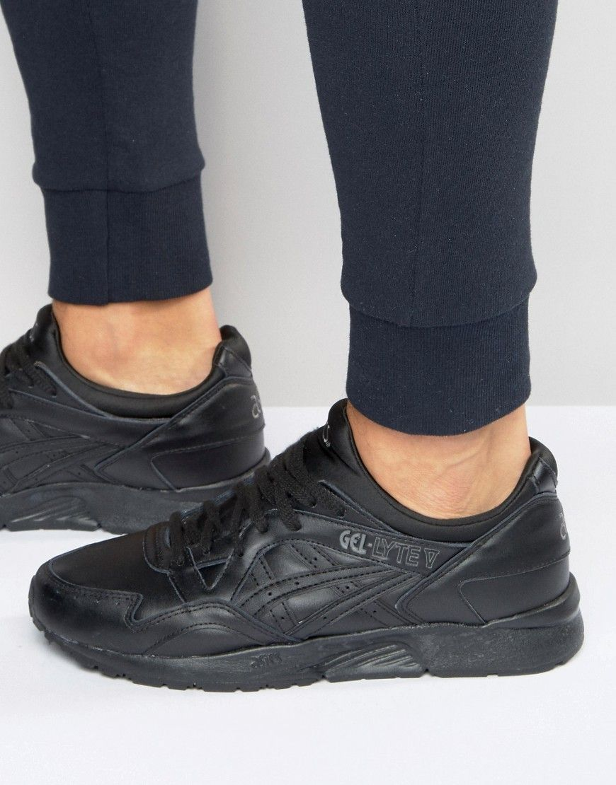 buy cheap hot sales first rate ASICS GEL-LYTE V SNEAKERS IN BLACK H6R3L 9090 - BLACK ...