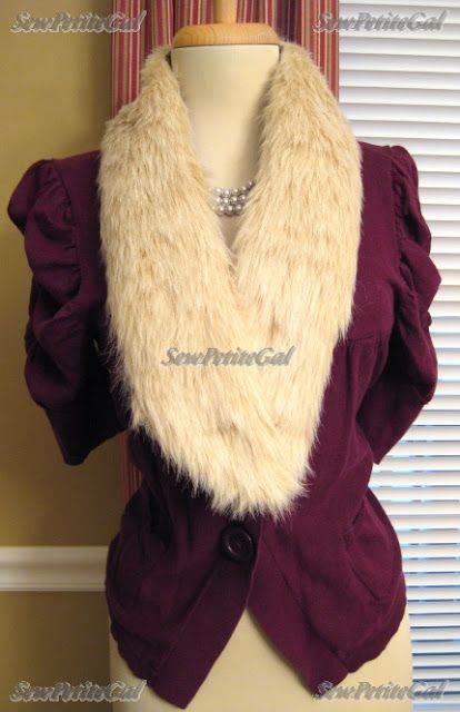 b37f560b2e12 SewPetiteGal  DIY Faux Fur Collar Tutorial