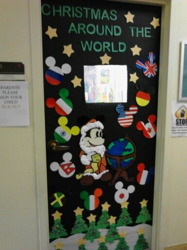 Christmas Around The World Themed Door New Year New