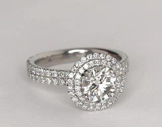 Blue Nile Studio Double Halo Gala Diamond Engagement Ring