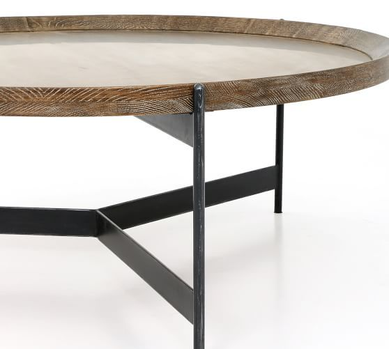 Norcross Coffee Table Round Coffee Table Reclaimed Wood