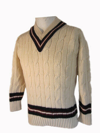Mens Pure wool Cricket Sweater