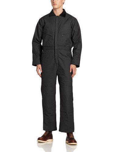 Berne Men's Deluxe Insulated Coverall   Berne Men's Deluxe Insulated Coverall These ever-popular deluxe insulated coveralls are engineered for maximum durability and work-readiness, when we say tough we mean t-u-f-f tough, triple-needle stitched seams, reinforced bartacks at all stress points, two reinforced hip pockets (the left with a brass zipper), four-needle stitched waistband with elastic inserts, and reinforced knees  http://www.allmenstyle.com/berne-mens-deluxe-insulated-coverall/