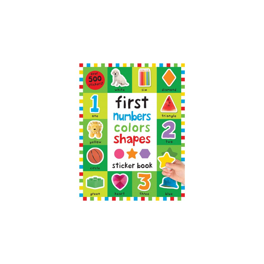 First 100 Numbers, Colors, Shapes Sticker Book (Paperback) (Nicola ...