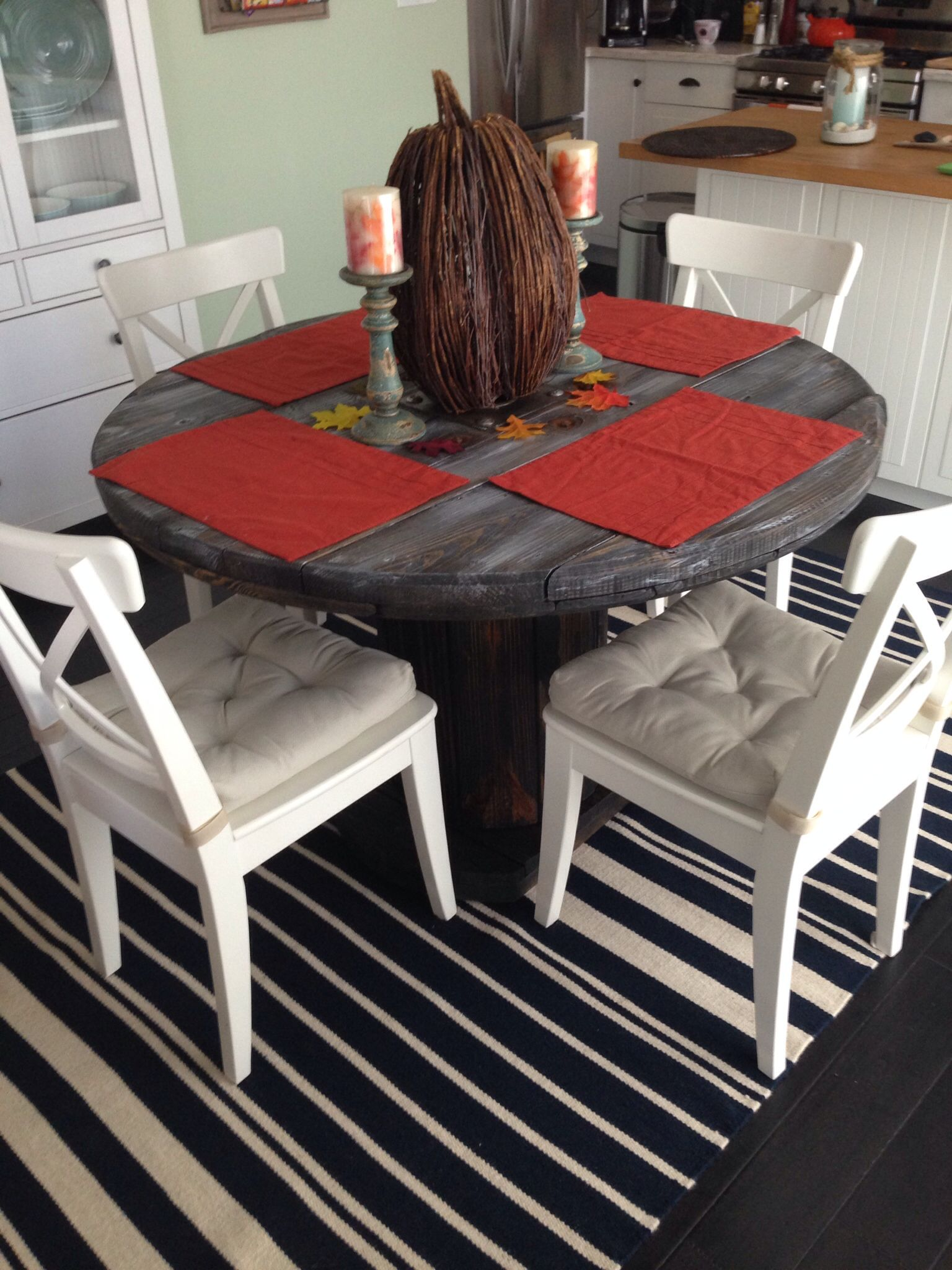 My Wood Spool Dining Room Table Project
