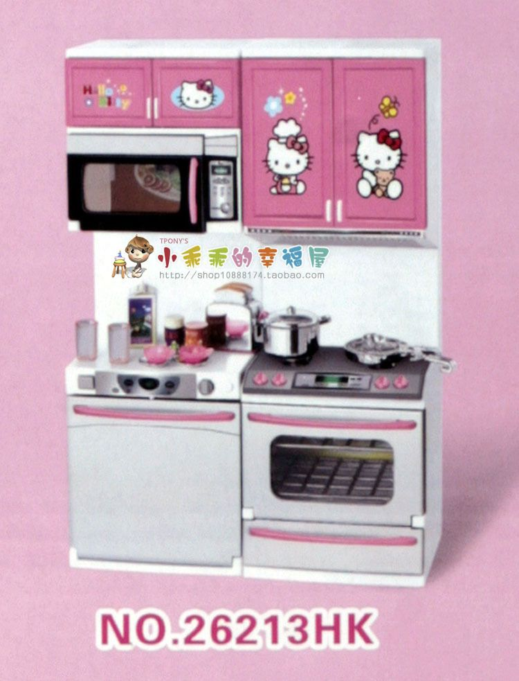 New Year Gift Plastic Modern Kitchen Toy Sets With Sound Light Pretend Play Kitchen Model