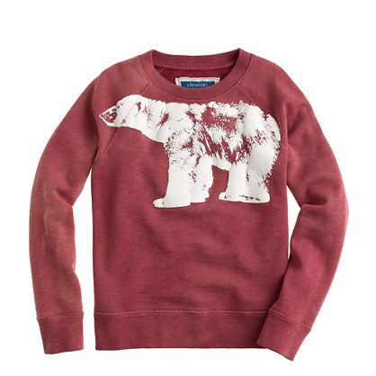 The jury is still on out whether glow-in-dark-bears are awesome or terrifying but one thing is for certain—they look pretty cool on this cozy sweatshirt.