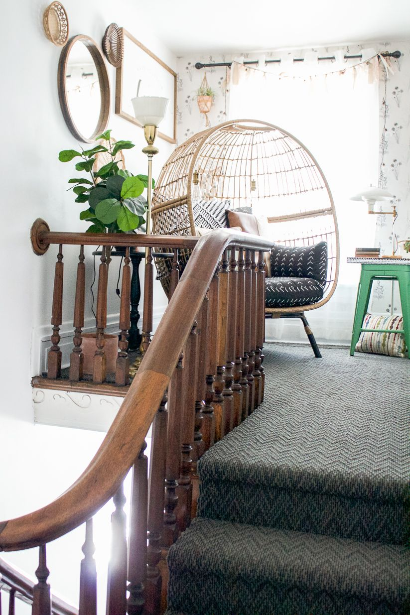Diy show off brick projects ship lap walls stair landing