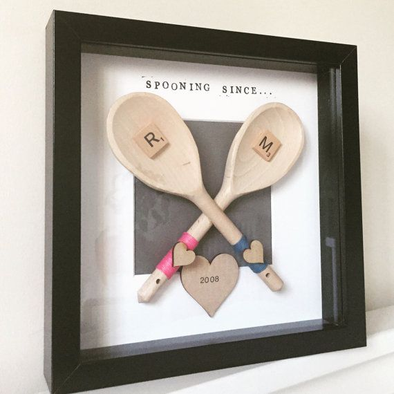 Couples Anniversary Gift- Spooning Since. Personalised