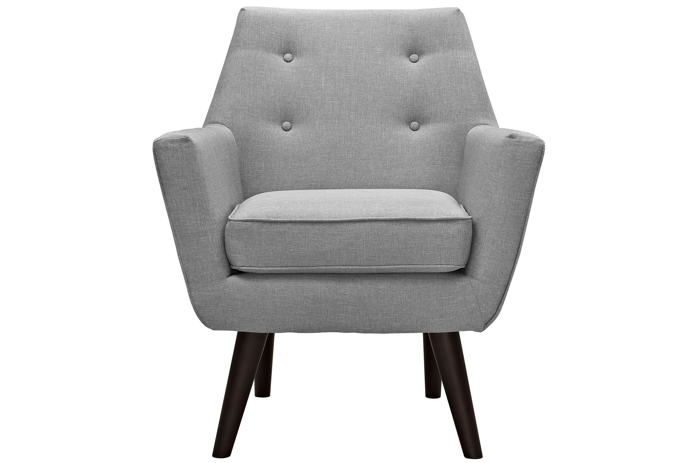 Posit Upholstered Armchair In Light Grey By Modway Grey Armchair