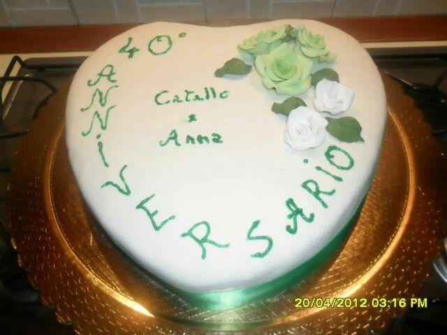 40 Anniversario Di Matrimonio Nozze Smeraldo 40 Anniversario Di Matrimonio Cupcake Torte