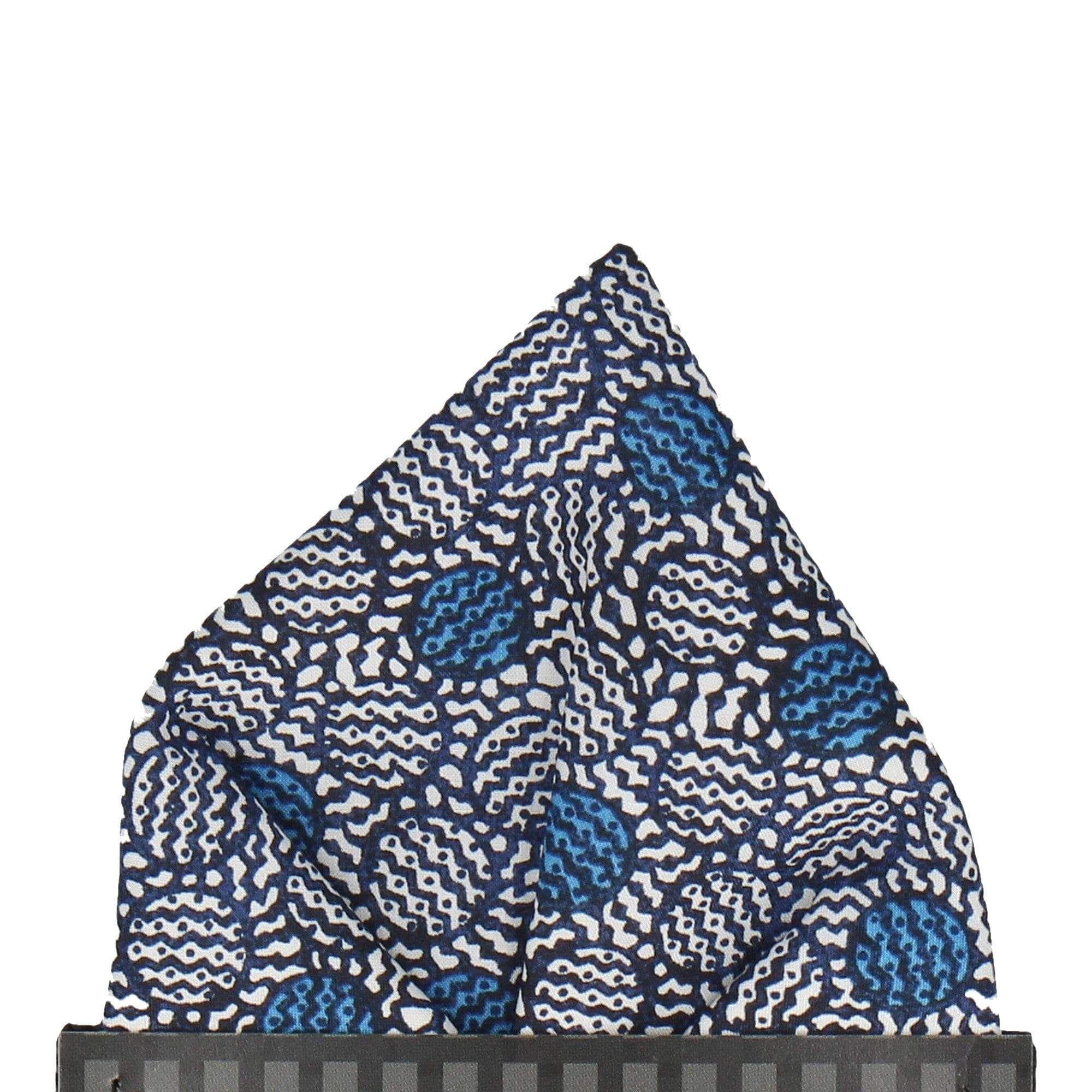 Achilles Blue Liberty Cotton Pocket Square