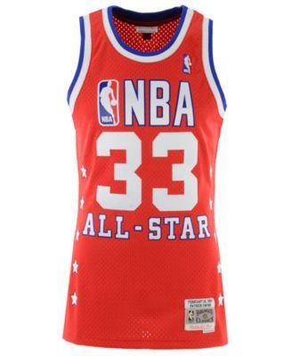 2e8be1f29 Mitchell   Ness Men s Patrick Ewing Nba All Star 1989 Swingman Jersey - Red White  XXL