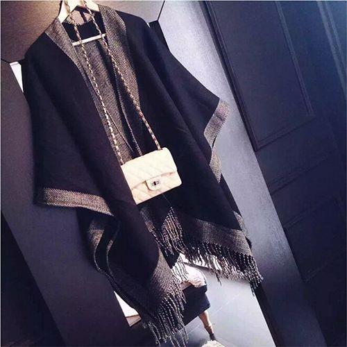 Za sjaal luxe merk Kasjmier Sjaal vrouwen Poncho Duplex Winter Cape Sjaals Pashmina Sjaals cachecol