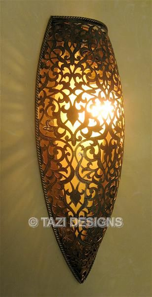 Moorish Wall Sconce Bouclier Moroccan Lamps Moroccan Lamp