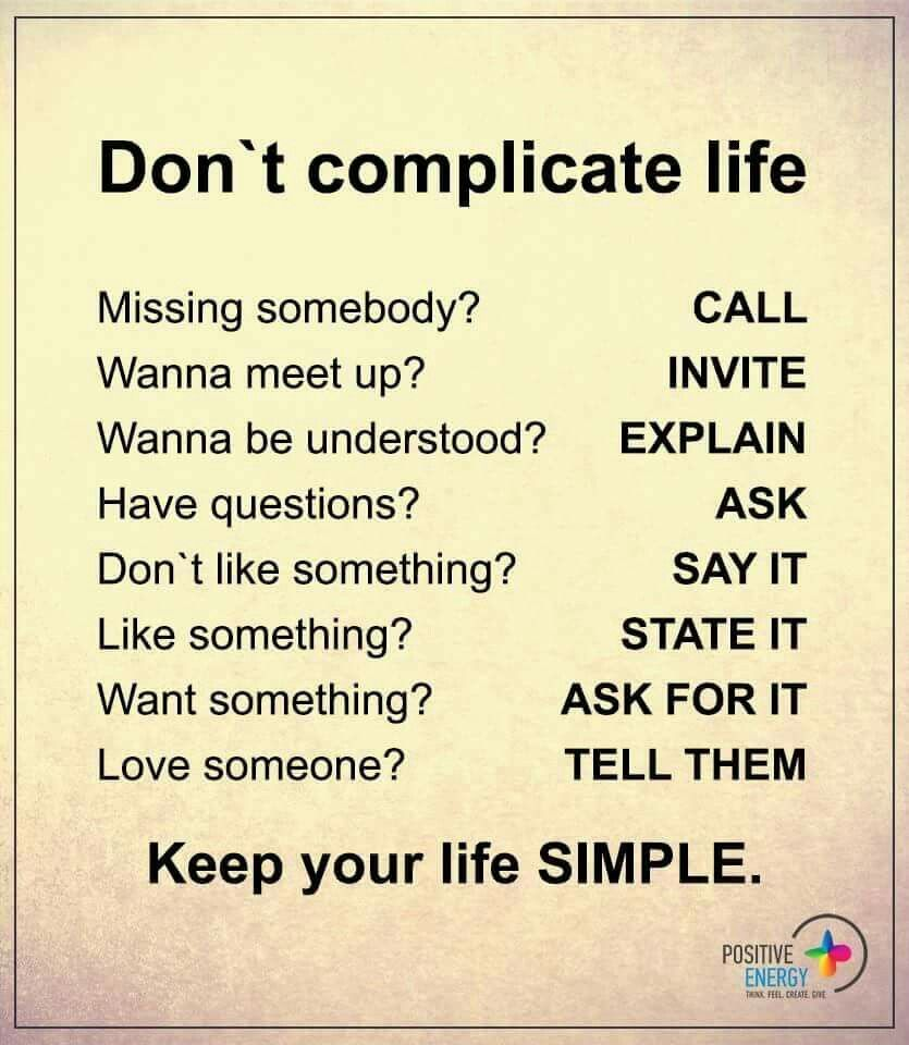 Keep Life Simple | Quotes | Pinterest | Wisdom, Thoughts ...