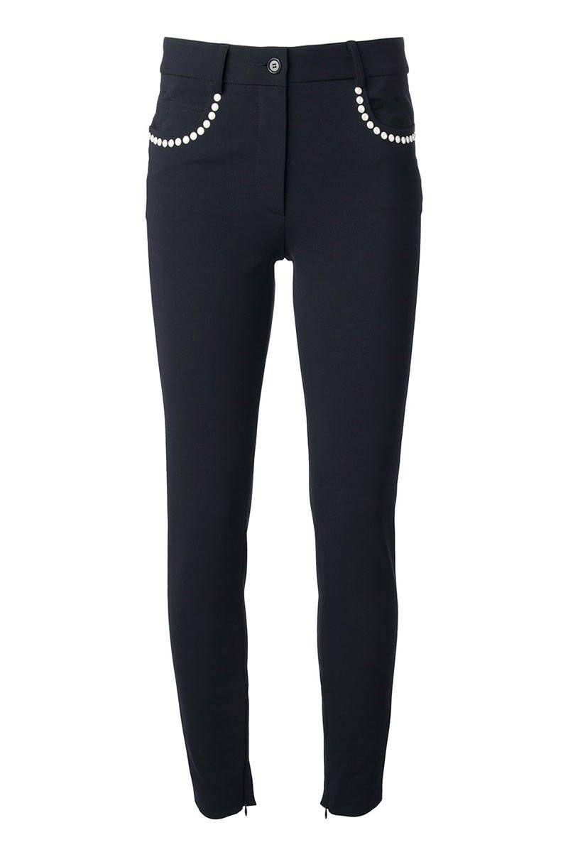 Moschino Skinny Trouser, $748.82; farfetch.com