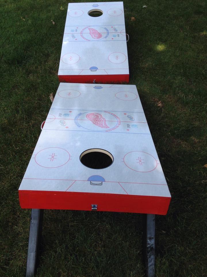Detroit Redwings Hockey Decor Yard Games Backyard Games