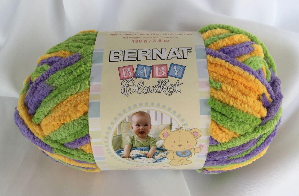 SUMMER DAY 03712 BERNAT BABY BLANKET YARN 3 5 OZ SKEIN NEW