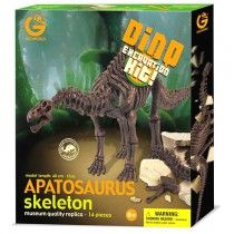 GeoWorld Realistic Museum Quality Apatosaurus Dinosaur Skeleton Fossil Excavation Dig Kit Toy | Nothing But Dinosaurs
