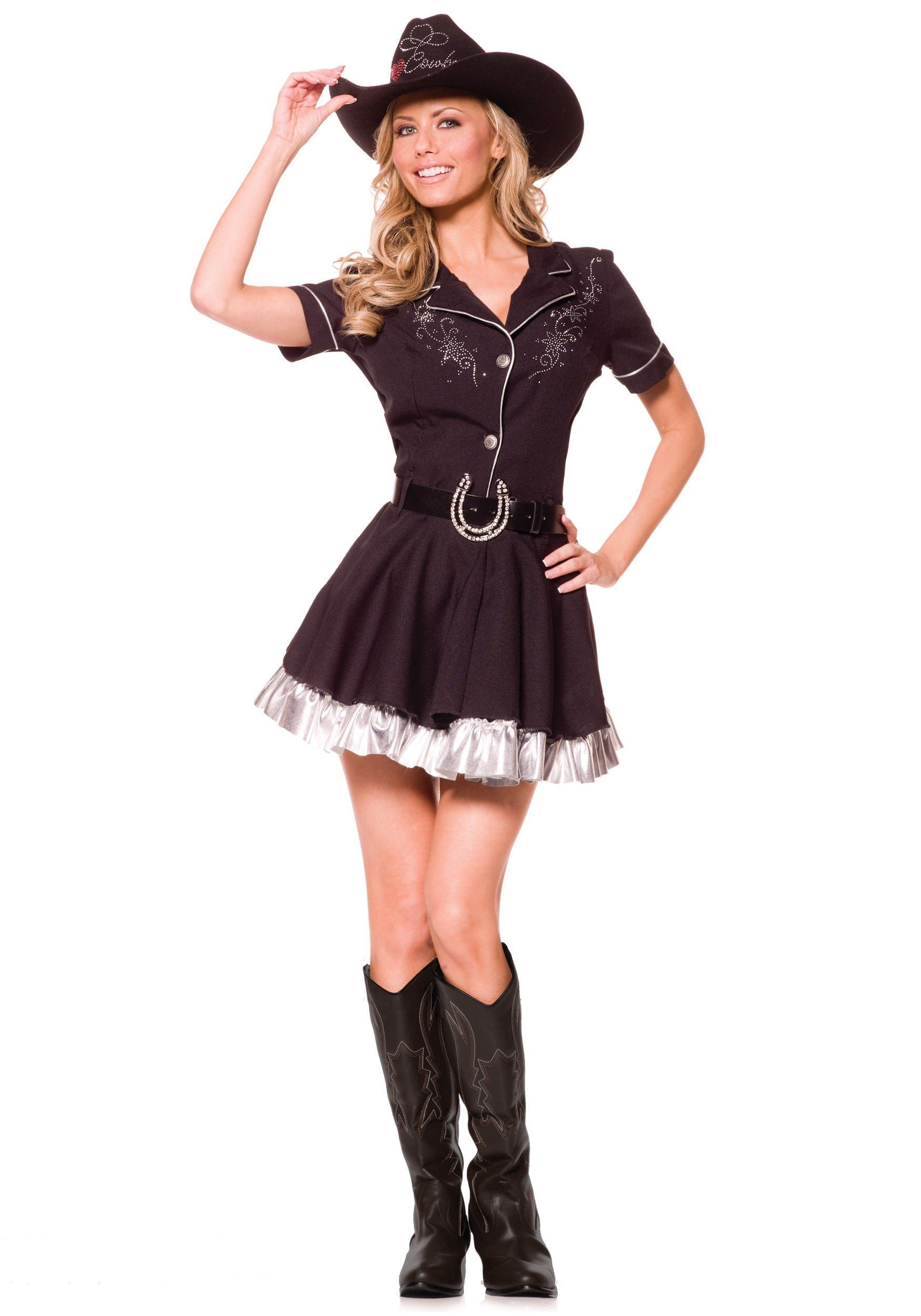 Home ladies costumes rodeo gal costume - Woman Costumes Adult Rhinestone Cowgirl Costume