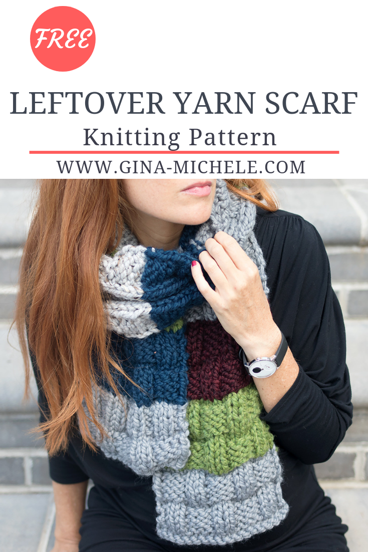 Leftover Yarn Scarf Knitting Pattern | Knit Crochet | Pinterest ...