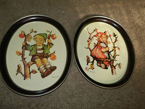 "A Pair of Hummel Platters""Apple Tree Girl"" & ""Apple Tree"