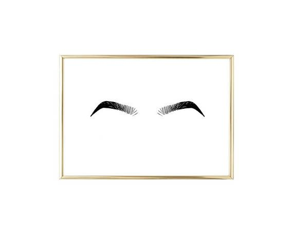 Photo of Items similar to Printable Eyebrows Illustration Drawing Instant Download Wall Art on Etsy