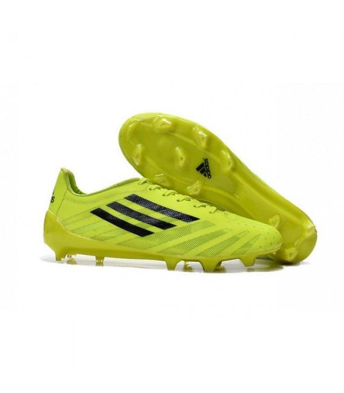 huge discount 3fb4f dca4b Acheter 2015 Adidas Chaussures de foot adizero F50 TRX FG Volt Noir pas  cher en ligne