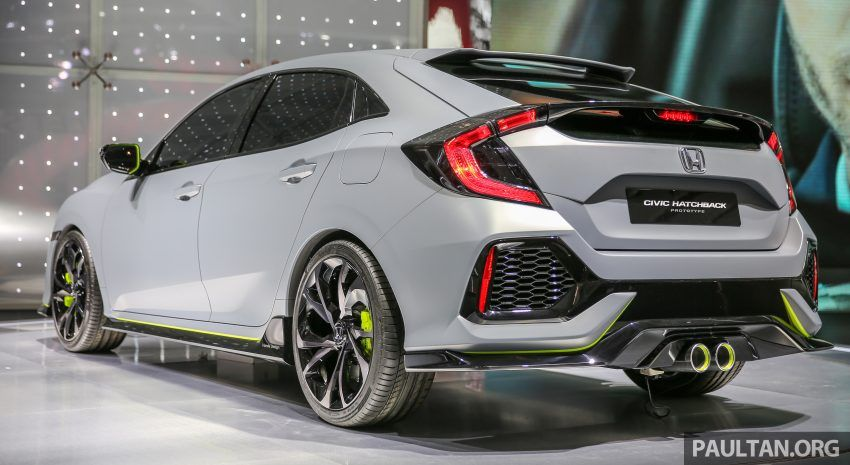 GIIAS 2016 Honda Civic Hatchback Prototype displayed