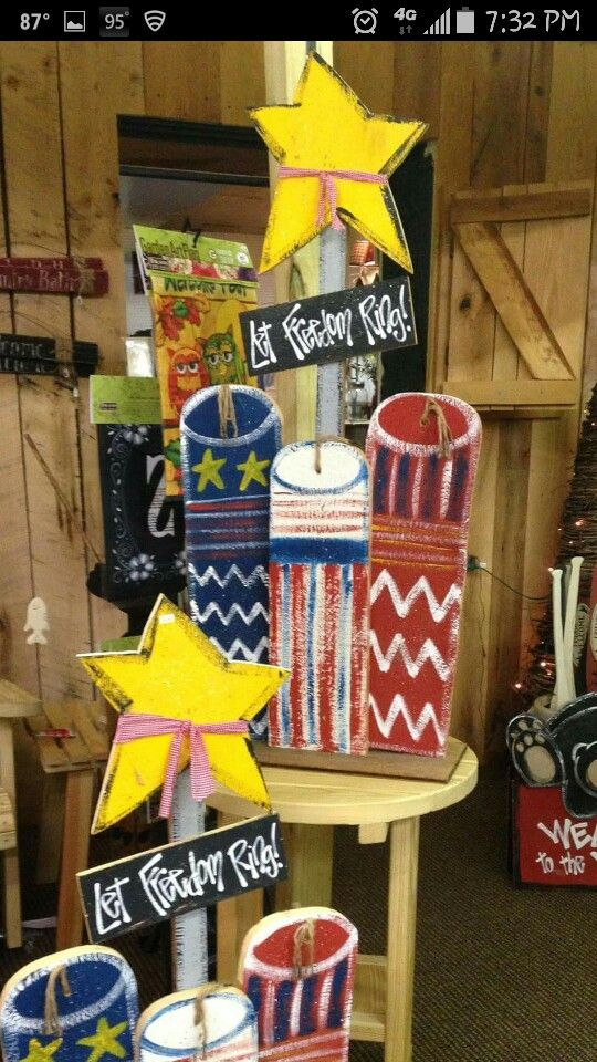 Americana Wood Crafts 4th Of July Craft July Crafts Painted Wood Crafts Crafts