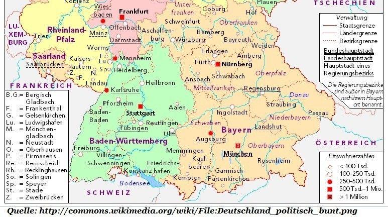 süden deutschland karte Sueddeutschland Karte1 Deutschland Karte Süden | Schwabach