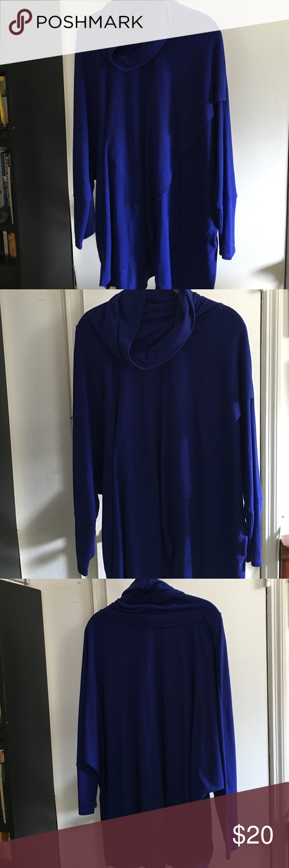 Ladies blouse Women's blue drape blouse Kate and Mallory Tops Blouses