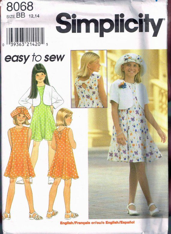 d5f9aaad8 Size 12-14 Girls Easy Dress Sewing Pattern - Sleeveless Princess ...