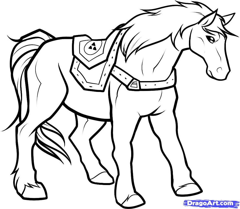Coloring pages for zelda - Nintendo Zelda Epona Stencil Google Search Zelda Coloring Pagescoloring